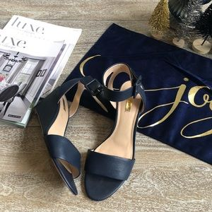Louise art Cie Punya Leather Wedge In Navy